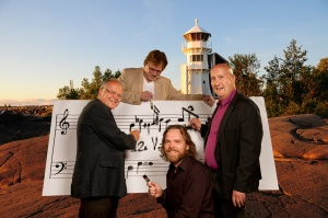 Four composers at work: Ulf Långbacka, Juha Leinonen, Pertti Jalava and Jukka-Pekka Lehto